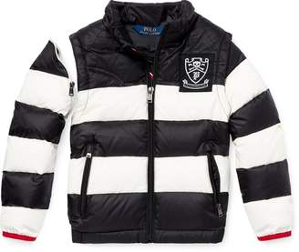 Ralph Lauren 2-in-1 Striped Down Jacket