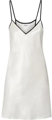DKNY - Satin Tunic - Ivory $150 thestylecure.com