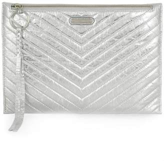Rebecca Minkoff large quilted clutch bag
