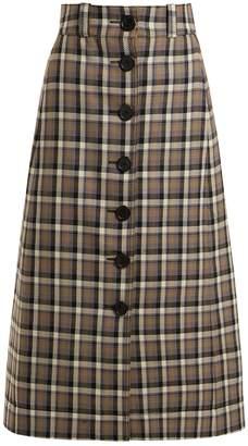 KWAIDAN EDITIONS Ruscha checked wool skirt