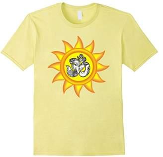Ganesh Big Yellow Sun with Om Yoga Tshirt