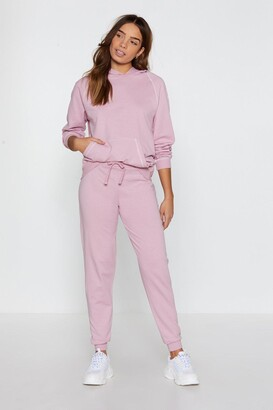 Nasty Gal Womens Life In The Contrast Lane Stitch Joggers - Pink - 6, Pink