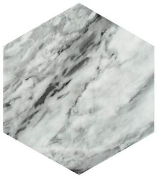 EliteTile SAMPLE - Karra Hexagon Porcelain Field Tile in Gray/White