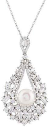 Angélique de Paris Pearl & Crystal Mademoiselle Pendant Necklace