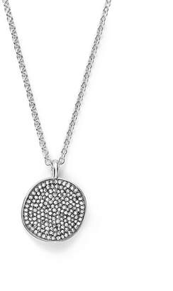 "Ippolita Sterling Silver Glamazon® Stardust Small Pavé Disc Necklace with Diamonds, 16"" - 100% Exclusive"