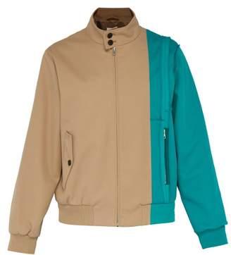 Maison Margiela Deconstructed Cotton Blend Harrington Jacket - Mens - Beige