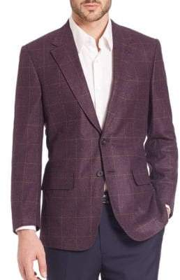 Checked Wool & Cashmere Sportcoat
