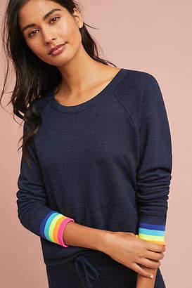 Sundry Rainbow-Trimmed Pullover
