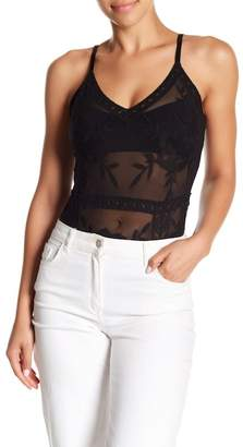 Honey Punch Embroidered Lace Bodysuit