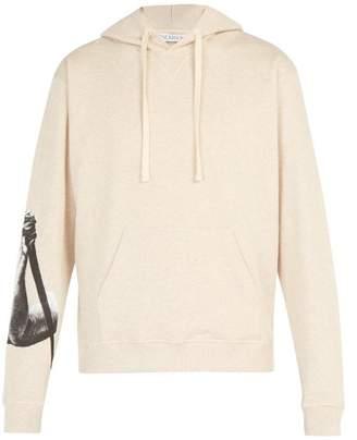 J.W.Anderson X Albrecht Durer Print Cotton Hooded Sweatshirt - Mens - Beige