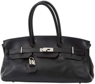 Hermes Birkin Shoulder Black Leather Handbag