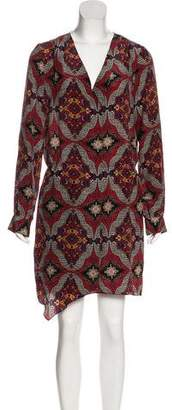 Veronica Beard Silk Long Sleeve Dress