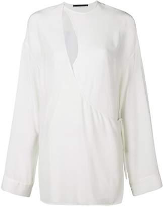 Haider Ackermann asymmetric front blouse