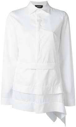 DSQUARED2 asymmetric layered design shirt