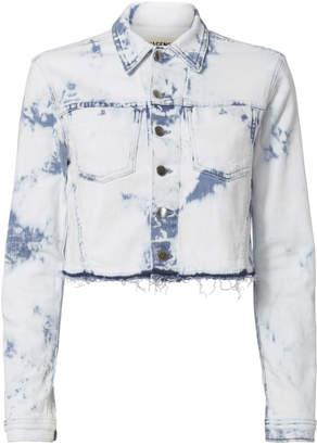 L'Agence Zuma Bleached Crop Denim Jacket