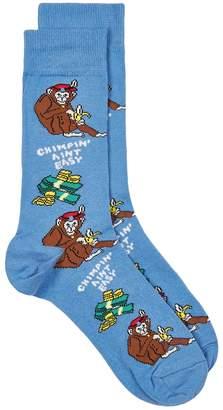 Topman Blue 'Chimpin Ain't Easy' Socks