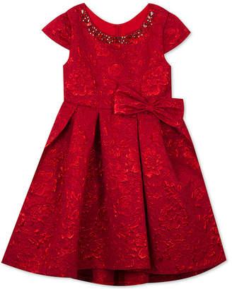 Rare Editions Little Girls Metallic Brocade Dress