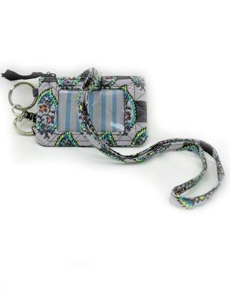 Vera Bradley Paisley Stripes Zip-Id/lanyard