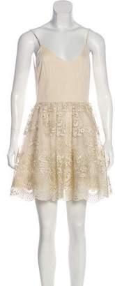 Alice + Olivia Sleeveless Lace Mini Dress w/ Tags
