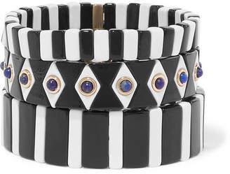 Lapis Roxanne Assoulin - Bistro Set Of Three Enamel And Bracelets - Black