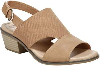Dr. Scholl's Block Heel Slingback Sandals - Hail