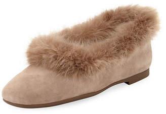 Taryn Rose Ryanne Faux-Fur Ballet Flats