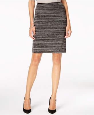 Kasper Textured Knit Slim Skirt