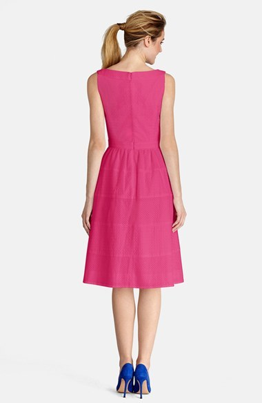 Donna Morgan Eyelet Cotton Fit & Flare Dress 2