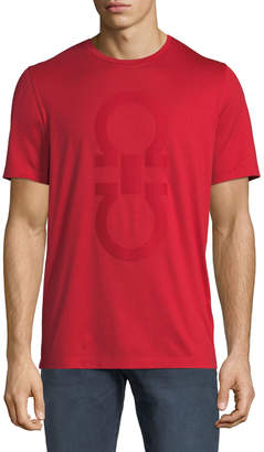 Salvatore Ferragamo Men's Cotton T-Shirt w/ Thermal Gancini Logo