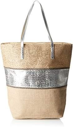 Molly Bracken Cabas Et Argent, Women's Top-Handle Bag,15.5x43x45.5 cm (W x H L)