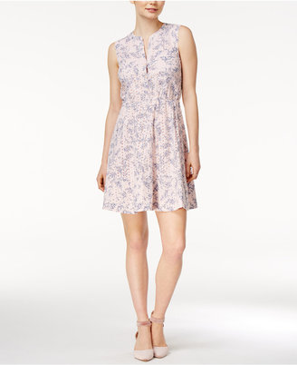 Maison Jules Printed Eyelet Fit & Flare Dress, Only at Macy's $109.50 thestylecure.com
