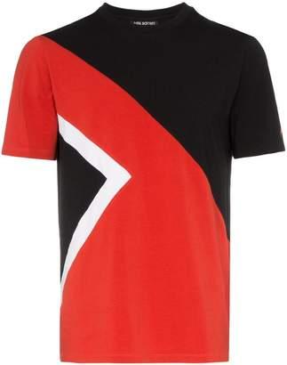 Neil Barrett geometric print stretch-cotton t-shirt