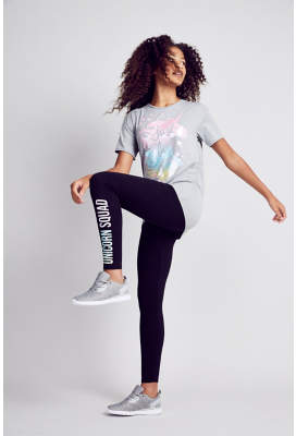 George Grey Unicorn T-Shirt and Leggings Outfit