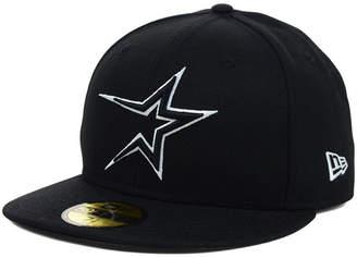 New Era Houston Astros Black and White Fashion 59FIFTY Cap