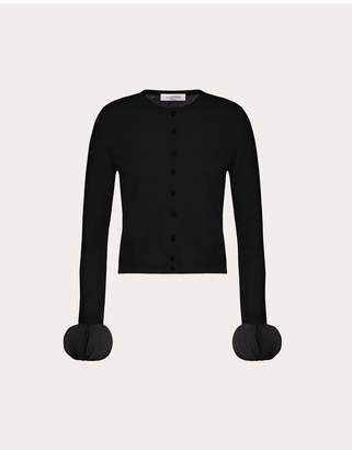 Valentino Mini Embroidered Cashmere Wool Cardigan