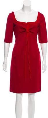 Valentino Short Sleeve Knee-Length Dress