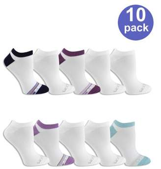 Fruit of the Loom Women's Everyday Soft Flat Knit No Show Socks 10 Pack