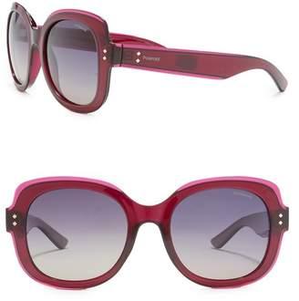 Polaroid Polarized 52mm Oversize Sunglasses