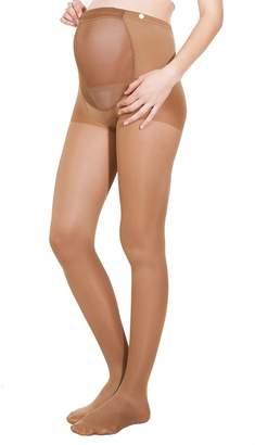 Fashionable Alpha Medical 1-20 mmHg Graduated Compression Maternity Pantyhose Adj. Waistband, Fine Italian Made Sheer Pregnancy Pantyhose (Size )