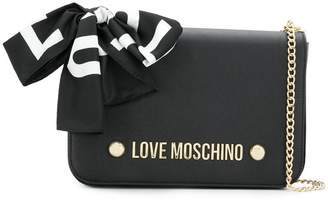 Love Moschino scarf bow crossbody bag