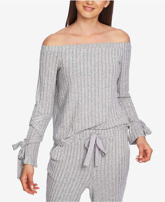 1 STATE 1.state Off-The-Shoulder Tie-Sleeve Top