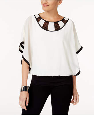 Thalia Sodi Lace Colorblocked Top