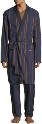 Hanro Striped Woven Robe