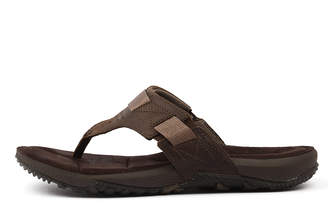 Merrell Terrand thong Dark earth Sandals Mens Shoes Casual Sandals-flat Sandals