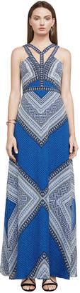 BCBGMAXAZRIA Stella Mosaic-Print Maxi Dress