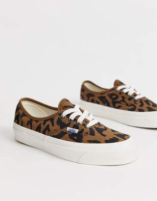 9a9c472df4 Vans Authentic 44 Anaheim leopard print trainers