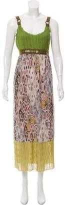 Philosophy di Alberta Ferretti Pleated Silk Dress