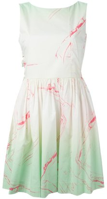 Marc By Marc Jacobs marble print flared dress $437.70 thestylecure.com