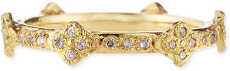 Armenta 18k Yellow Gold Stackable Ring with Diamond Crivelli Crosses