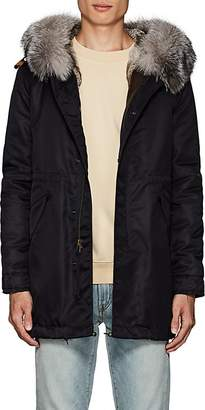 Mr & Mrs Italy Men's Fur-Trimmed & -Lined Polished Twill Midi-Parka